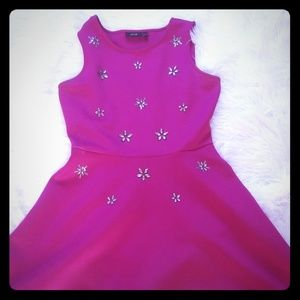 Apt 9 pink rhinestone dress
